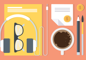 Free Flat Workstation Vector Elements - Free vector #420477