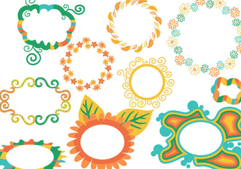 Free Spring Frames Vectors - Kostenloses vector #420587