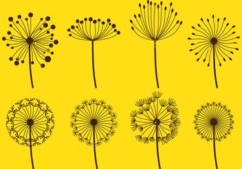Dandelion Fluff Sets - vector gratuit #420697