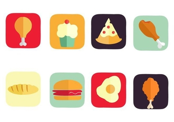 Free American Food Icons Vector - Kostenloses vector #420767