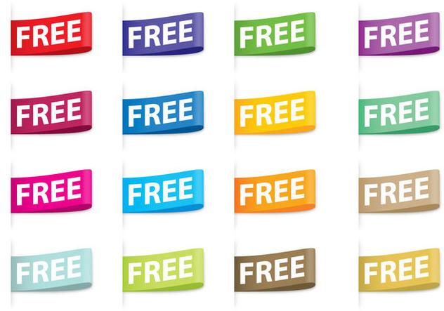 Free Tags Vectors - Free vector #420907