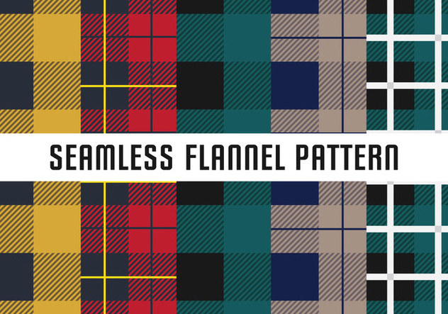Seamless Flannel Pattern - vector gratuit #421007