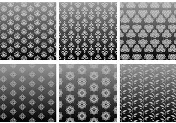 Classic Pattern Grey Gradient Free Vector - Kostenloses vector #421037