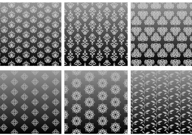 Classic Pattern Grey Gradient Free Vector - Free vector #421037