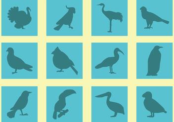 Silhouette Of Birds Vectors - Free vector #421127