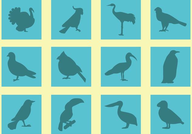 Silhouette Of Birds Vectors - бесплатный vector #421127