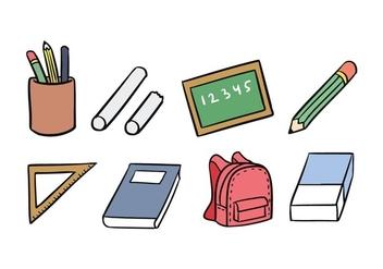 School Icon Set - vector #421297 gratis