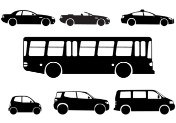 Silhouette City Cars - Free vector #421377