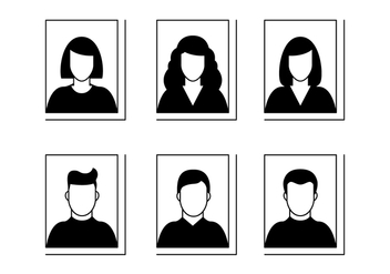 Head Shot Silhouette - Free vector #421477