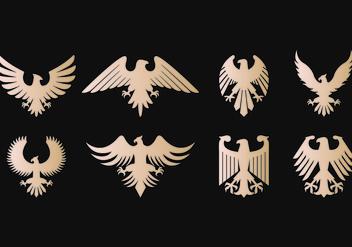 Eagle Seal Symbol Vectors - Free vector #421487