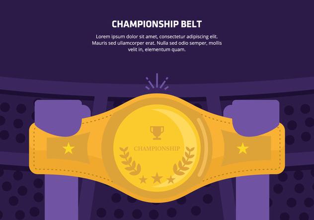Championship Belt Background - Kostenloses vector #421497