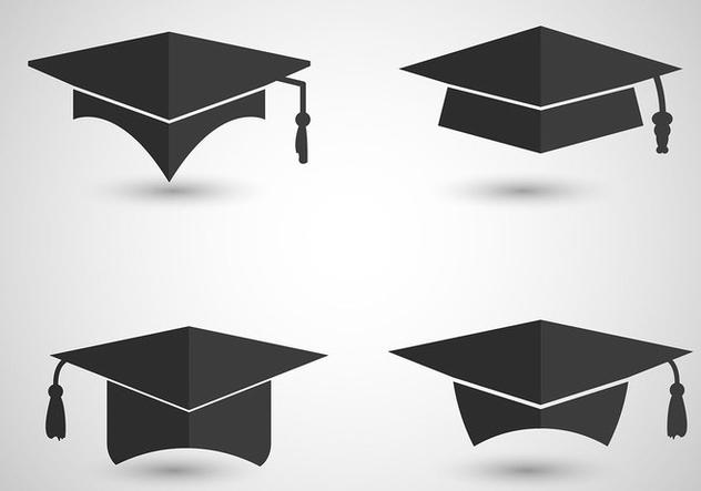 Graduation Cap Vectors - Kostenloses vector #421547
