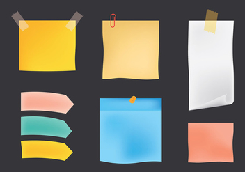 Free Block Notes Icons Vector - Free vector #421657
