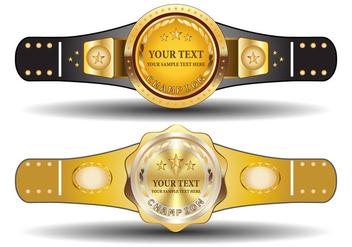 Championship Belt Template - Kostenloses vector #421707