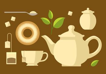 Teapot Set Classic Vector - vector gratuit #421717