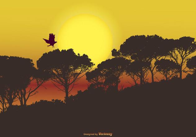 Mystical Landscape Scene - Free vector #421767