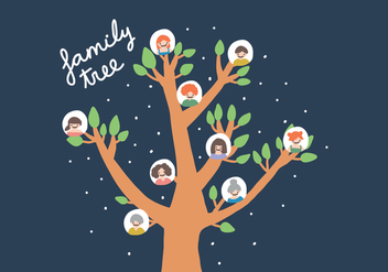Hand Drawn Familia Tree Vector - vector gratuit #421987