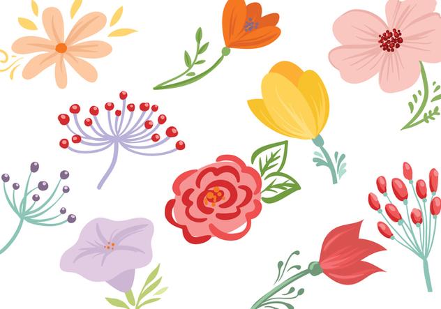 Free Flowers Vectors - Free vector #422127