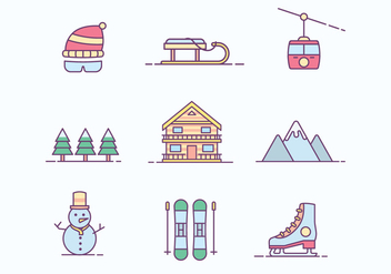 Free Winter Ski Resort Icon - vector #422257 gratis