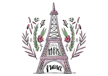 Free Eiffel Tower - vector gratuit #422307