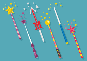 Magic Stick Vector Art - Free vector #422327