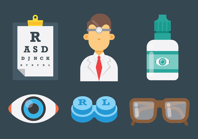 Male Eye Doctor Icons Vector - Free vector #422447