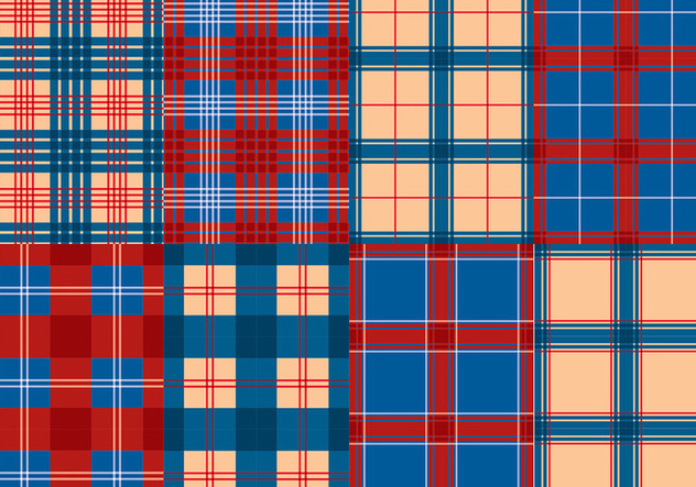 Flannel Red Blue Texture Vector - Free vector #422457