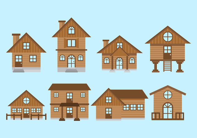 Free Chalet House Vectors - Free vector #422507