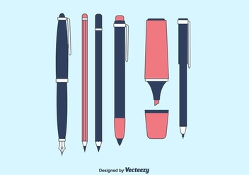 Vector Writing Tools Collection - vector gratuit #422517