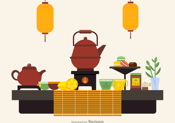 Free Tea Ceremony Icons Vector - vector gratuit #422557