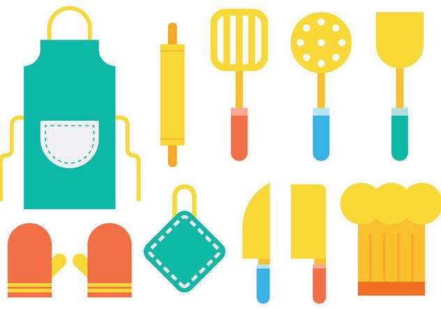 Bright Cocina Icons Vector - vector #422577 gratis