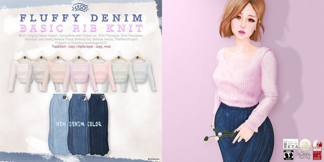Basic Rib Knit&Denim series@SaNaRae(soon) - Free image #422687