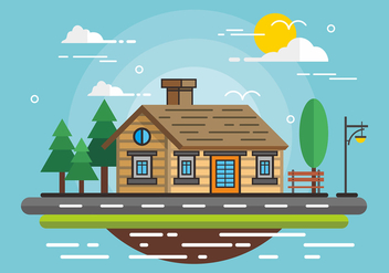 Chalet Flat Design - Free vector #422827