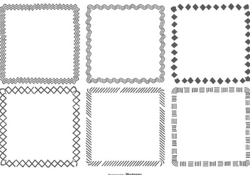 Hand Drawn Square Frames Collection - Free vector #422837