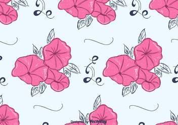 Pink Petunia Pattern Vector - Free vector #422867