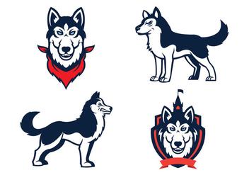 Free Huskies Mascot Vector - Kostenloses vector #422887