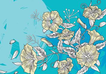 Floral Decorative Background or Petunia Flowers Background - vector gratuit #422907