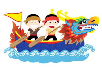 Dragon Boat Festival Vector - vector #422917 gratis