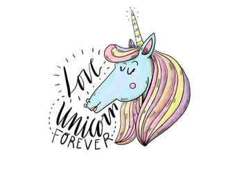 Free Unicorn Illustration - бесплатный vector #422987