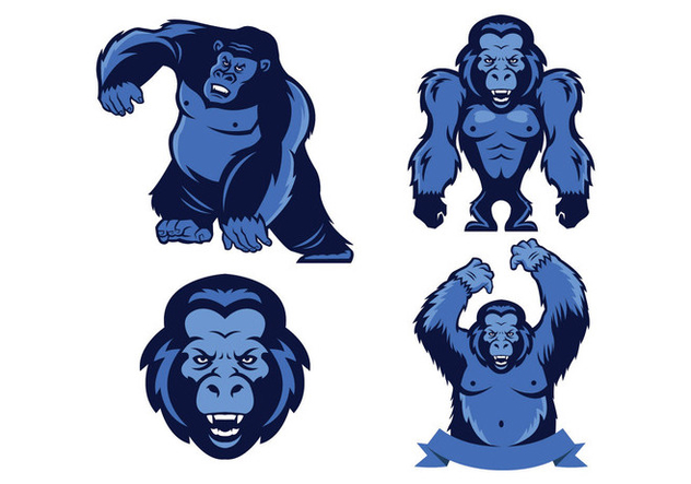 Free Apes Mascot Vector - Free vector #423227