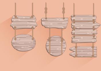 Hanging Rope Madeira Sign Vectors - Kostenloses vector #423237