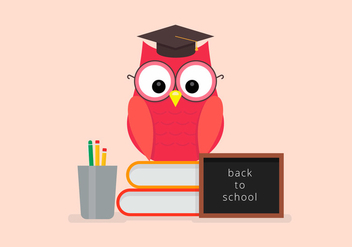Back to School Owl Student Vector - Free vector #423317