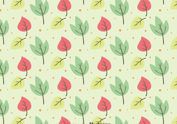 Nice Leaves Pattern Background - Free vector #423397