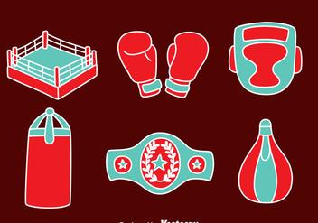 Hand Drawn Boxing Element Vectors - Free vector #423507