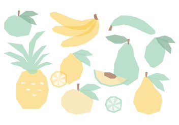Vector Collection of Hand Drawn Fruits - vector gratuit #423587