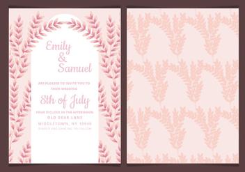 Vector Wedding Invitation with Feminine Branches - Free vector #423617
