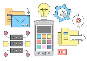 Design Concept for Mobile Applications Development - Free vector #423847