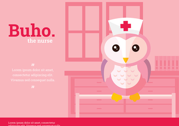 Buho Nurse Character Vector - Free vector #423867