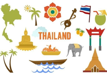 Free Thailand Elements Vector - бесплатный vector #423877