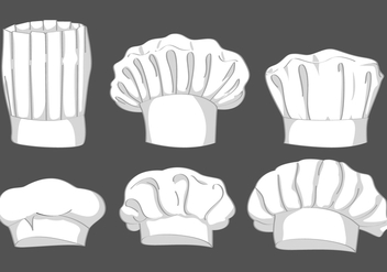 Chef Hat Vector Set - Free vector #424127